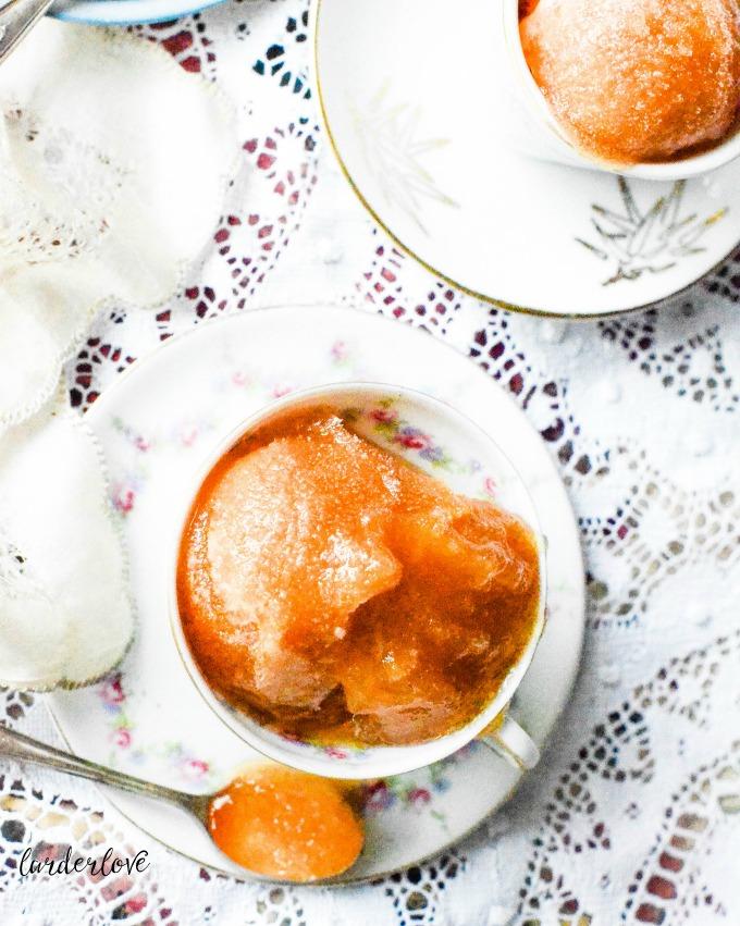 Earl Grey tea sorbet by larderlove