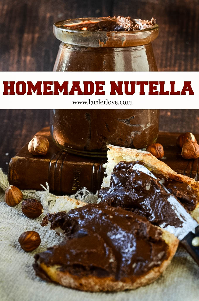 homemade nutella by larderlove
