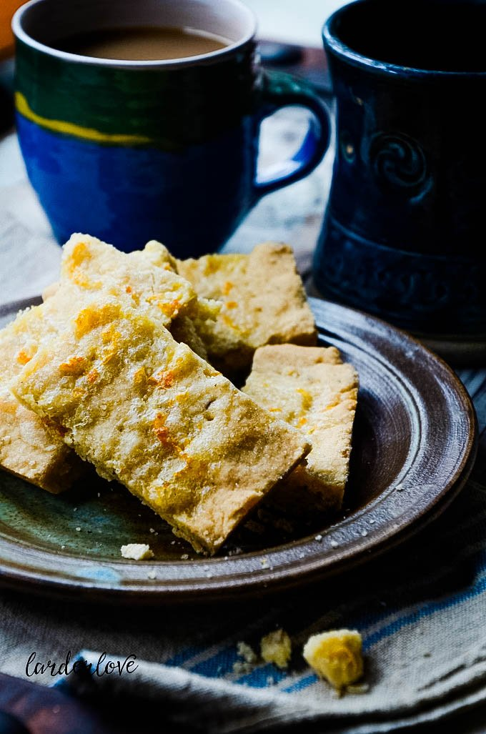 orange and caraway shortbread by larderlove