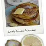 lemon pancakes by larderlove
