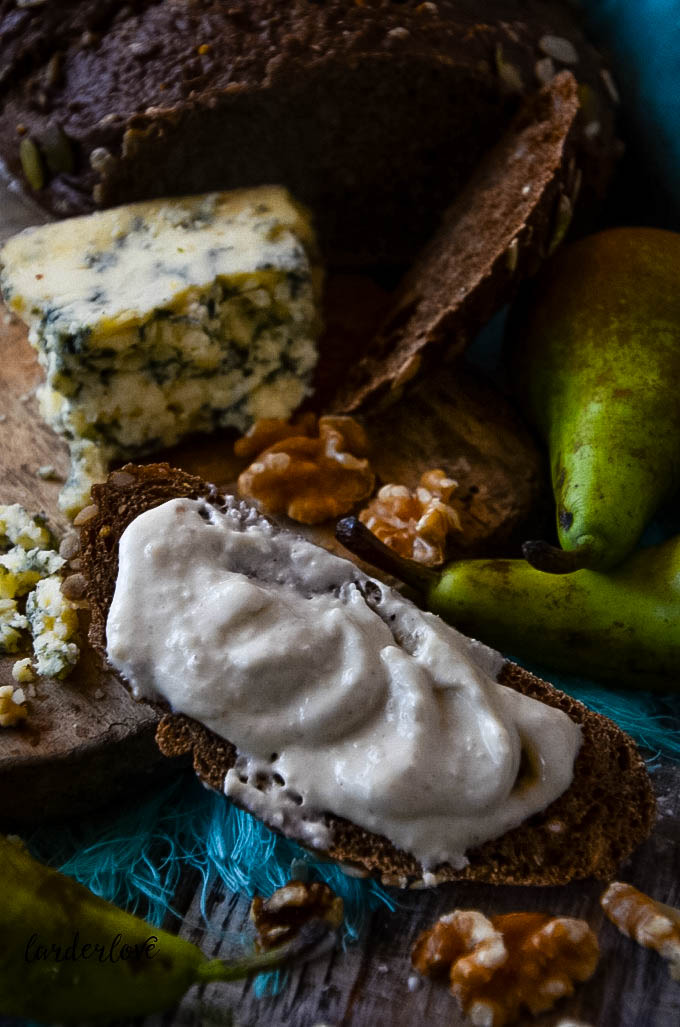 stilton pear and walnut dip by larderlove