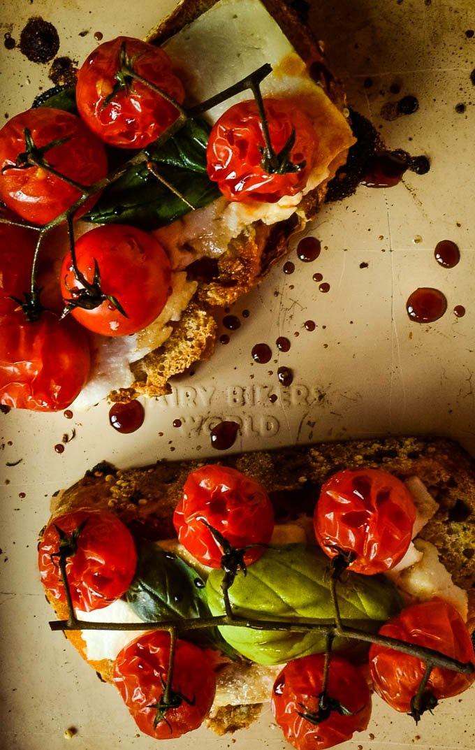 roasting cherry tomatoes on oven tray