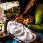 stilton pear and walnut dip and spread