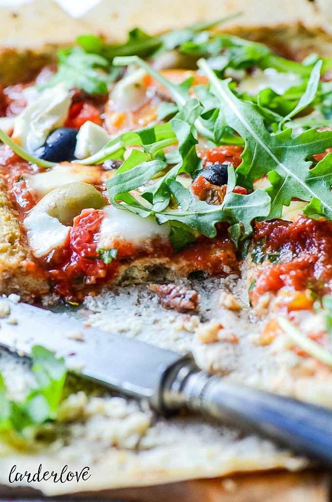 cauliflower pizza base bym larderlove