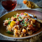 chorizo and tomato risotto by larderlove