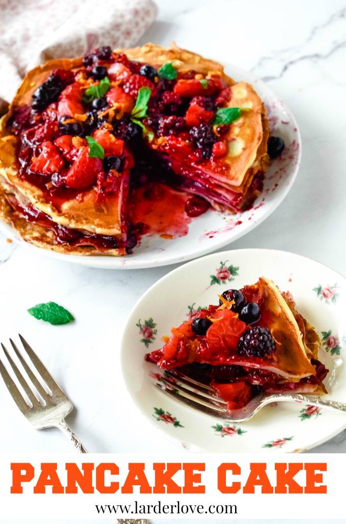 pancake cake by larderlove