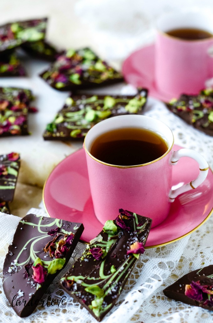 valentine chocolate bark by larderlove
