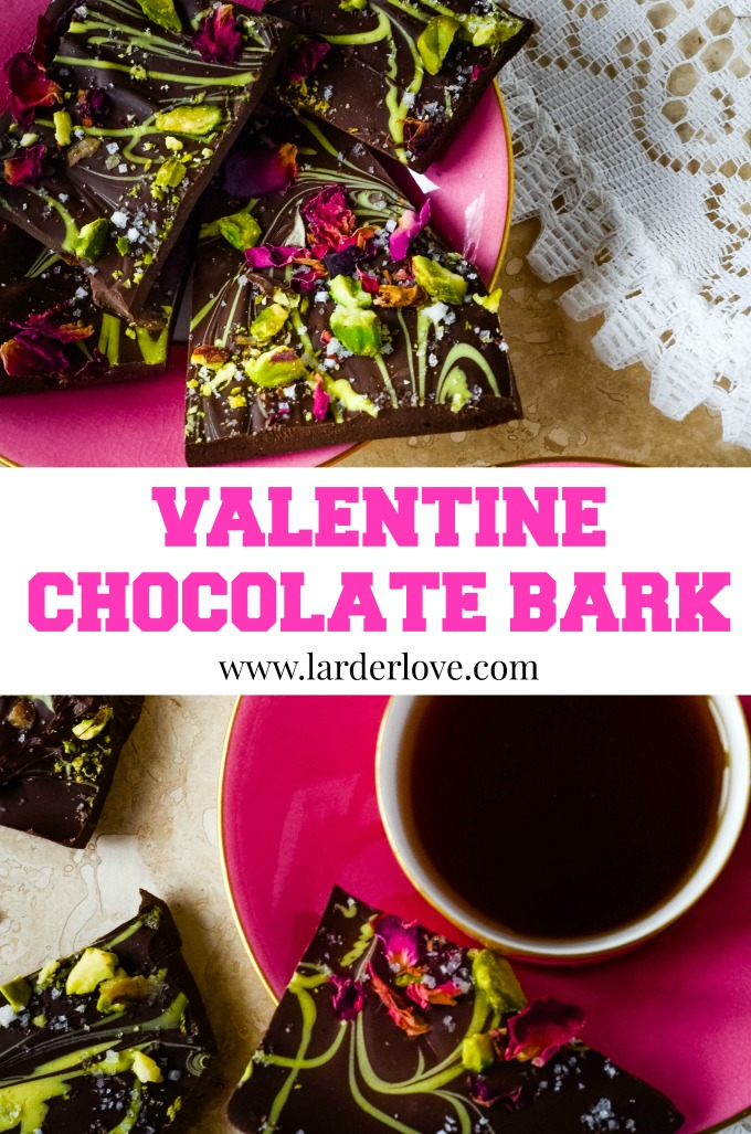 valentine chocolate bark is so pretty and full of fabulous flavours, the perfect gift for your sweetie on Valentine's Day