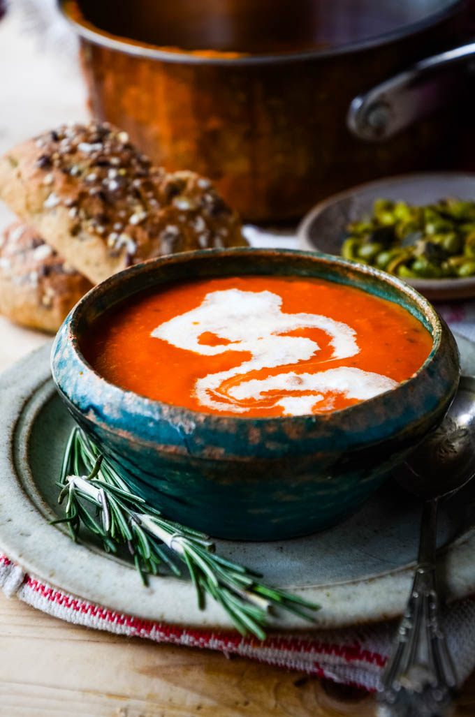 soup in bowl with swirl
