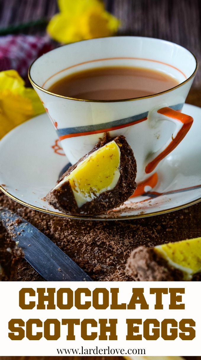 chocolate scotch egg by larderlove