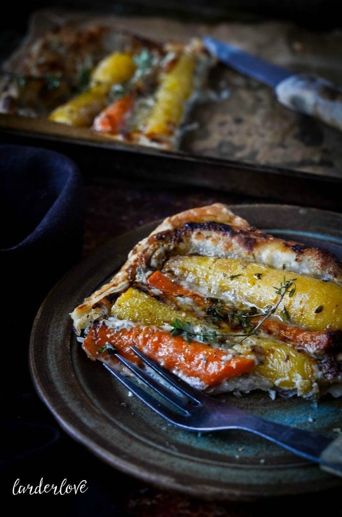 carrot and thyme tart by larderlove
