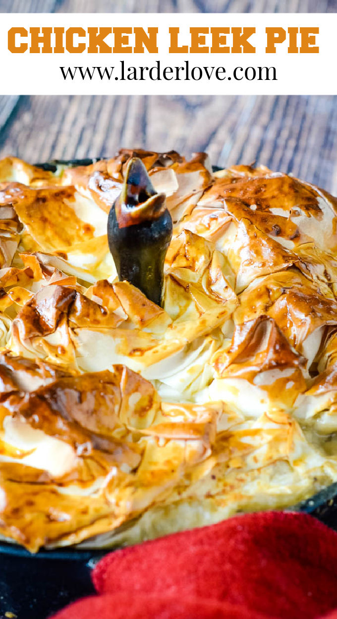 chicken and leek pie pin image