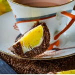 chocolate scotch egg pin image