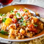super simple chorizo and tomato risotto