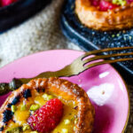 rhubarb and raspberry tarts