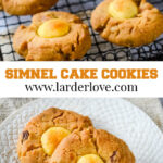 simnel cake cookies pin image