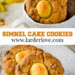 simnel cake cookies