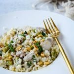 easy chicken and asparagus risotto by larderlove