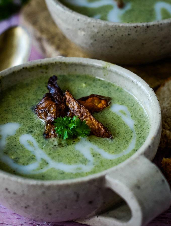 cream of nettle soup by larderlove