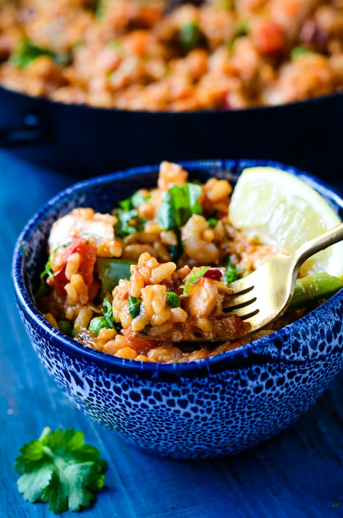 easy fish and chorizo risotto by larderlove