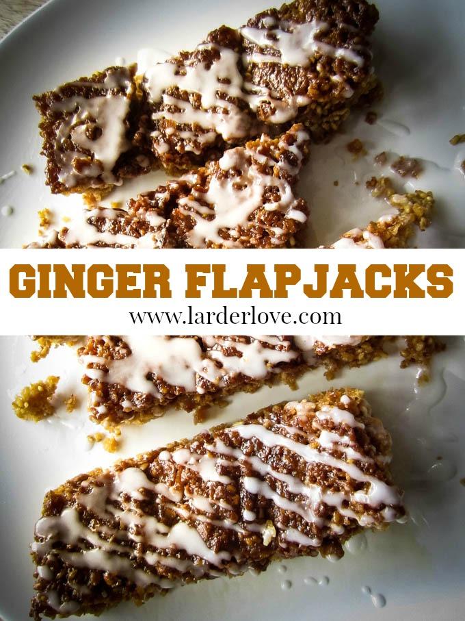 ginger flapjacks by larderlove