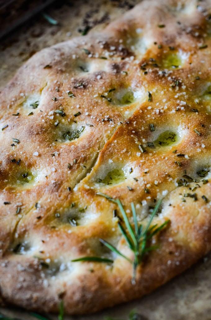easy rosemary focaccia bread by larderlove