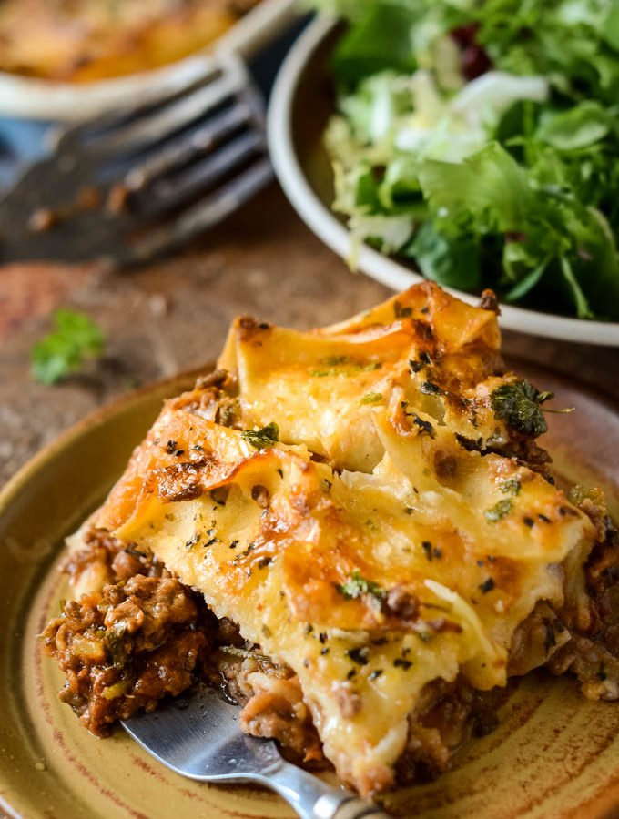 super easy lazy lasagne by larderlove
