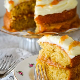 rhubarb and ginger cake by larderlove