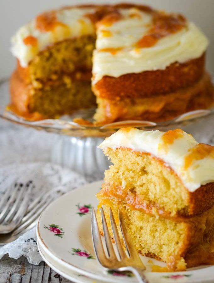 rhubarb and ginger cake by larderlove