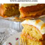 easy rhubarb and ginger cake