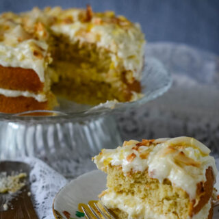 coconut cake with lemon and ginger by larderlove