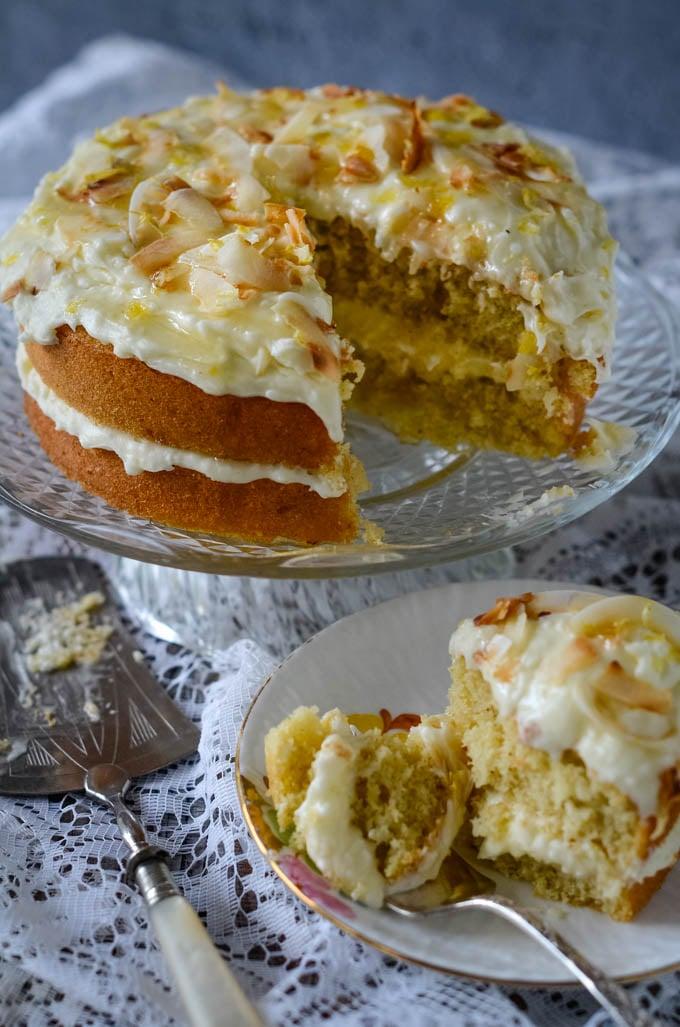 coconut lemon and ginger cake by larderlove