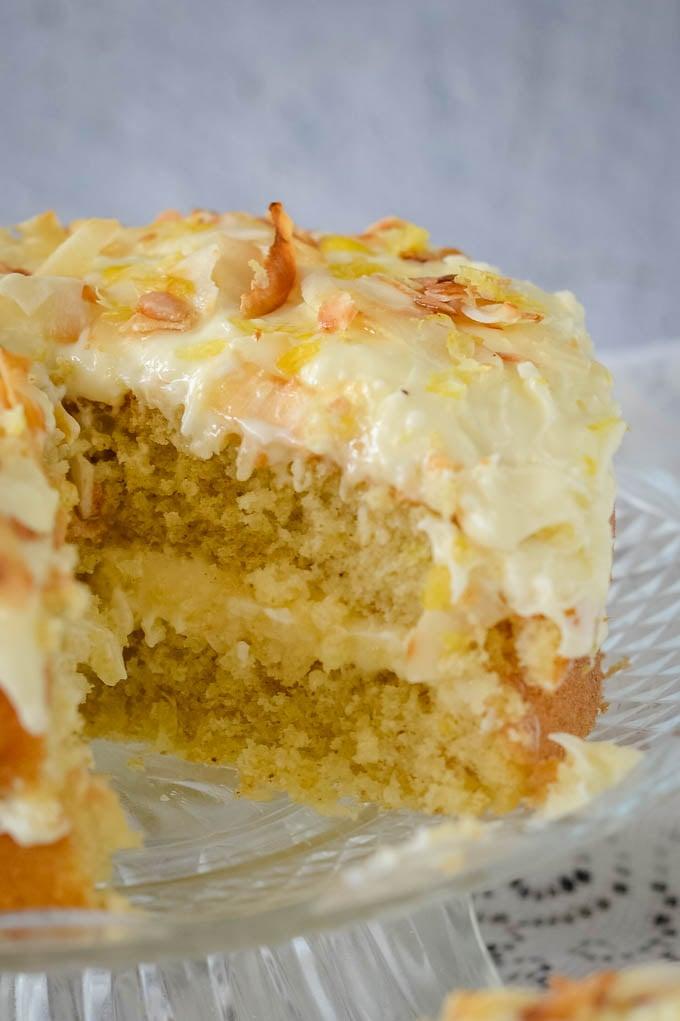 easy coconut lemon and ginger cake by larderlo9ve