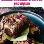 double chocolate coffee brownies