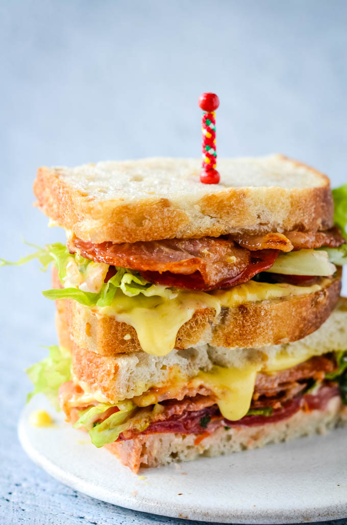blt with homemade mayonnaise