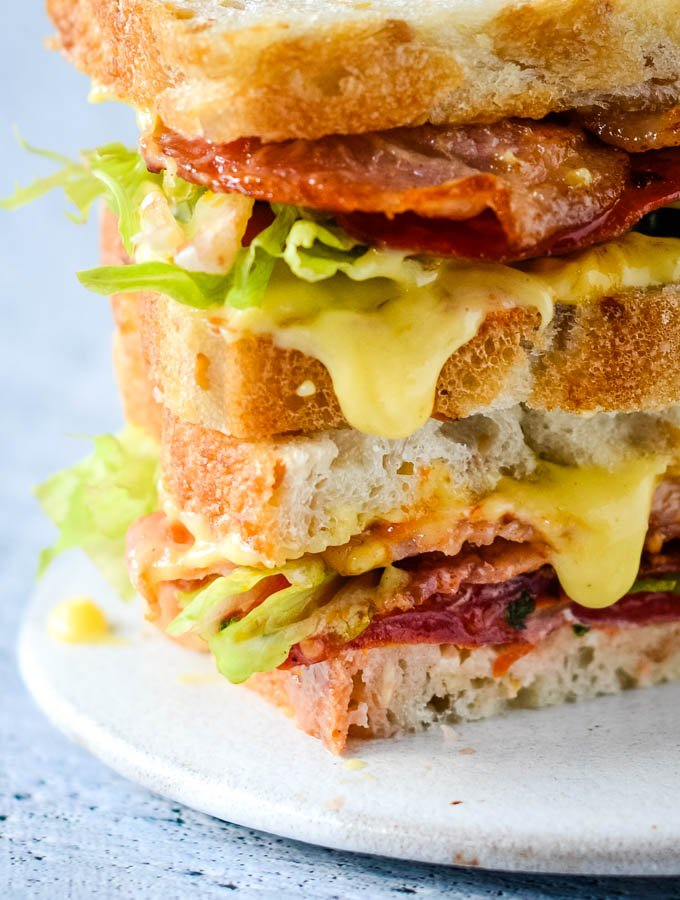 easy foolproof homemade mayonnaise in blt sandwich