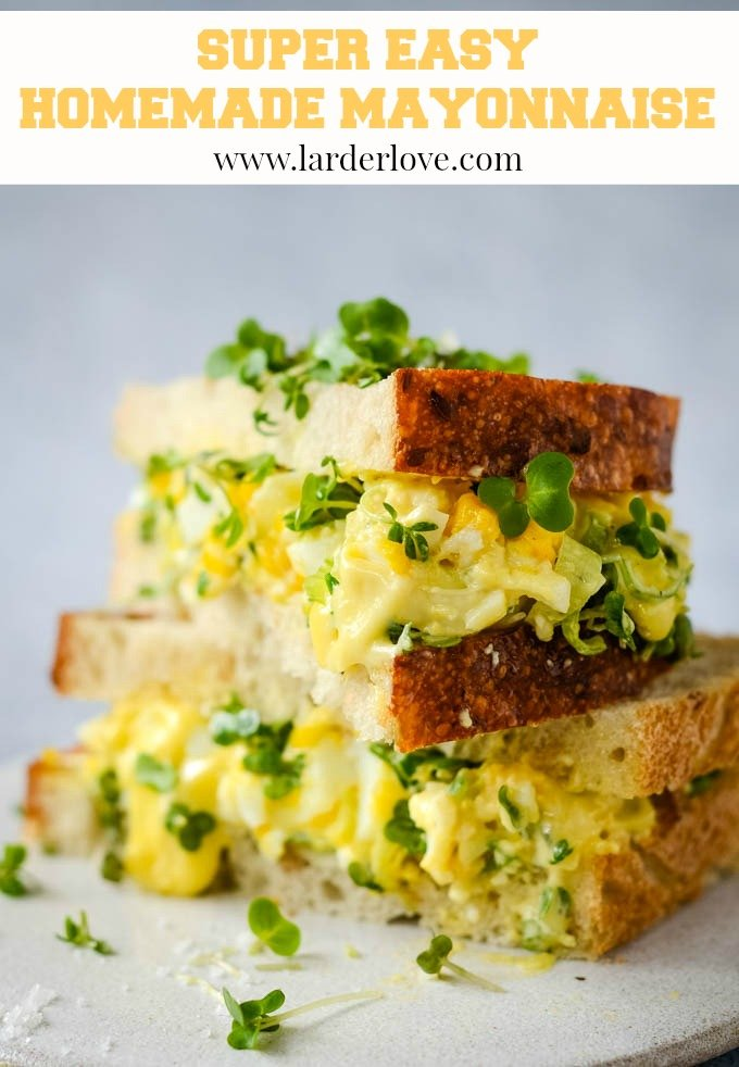 easy homemade mayonnaise by larderlove