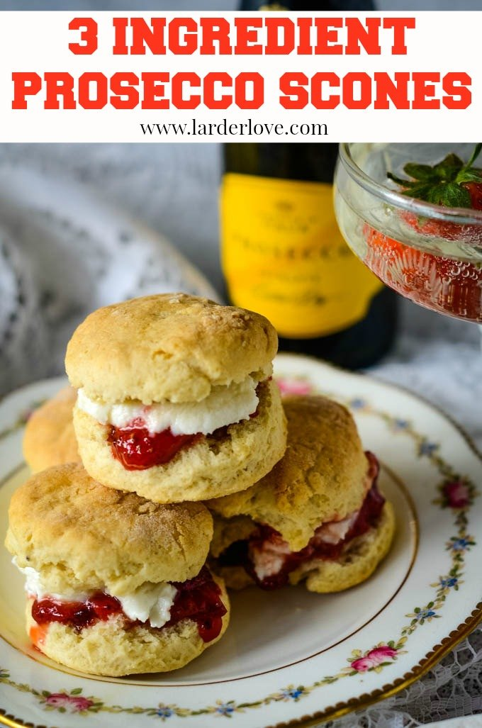 These amazing super easy 3 ingredient prosecco scones really are the simplest things to make. They taste fabulous and are ready in just 20 minutes start to finish. Now that's a real sweet treat!