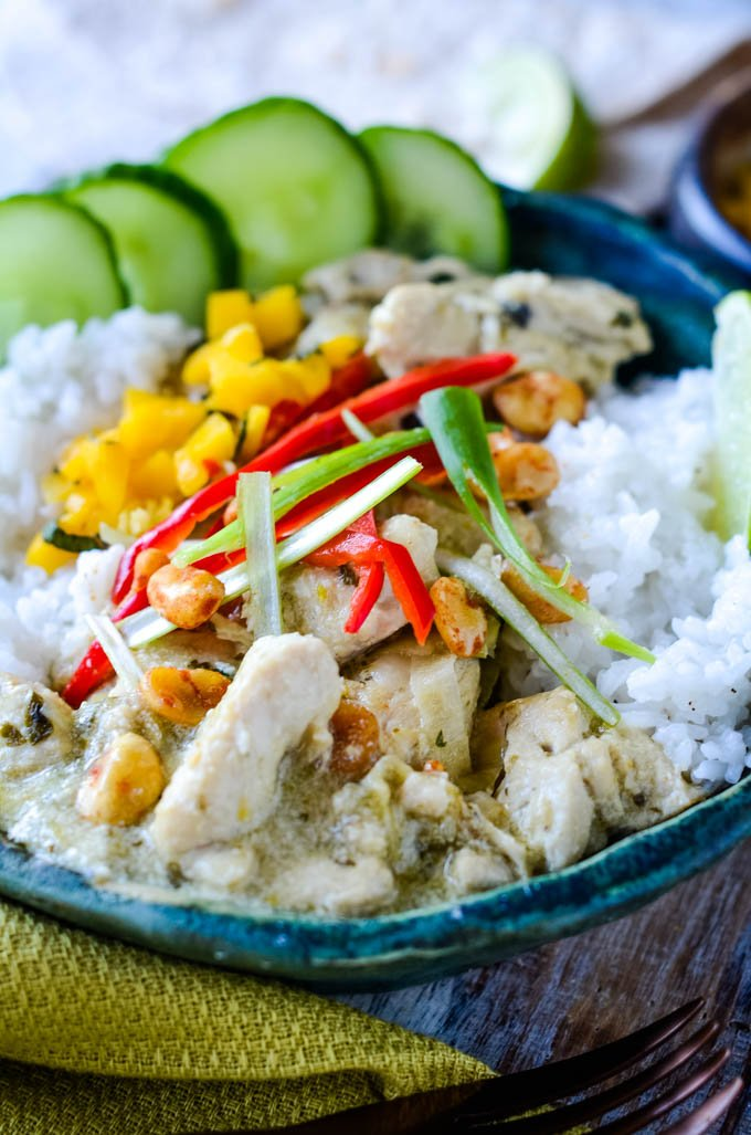 Thai green curry bowl