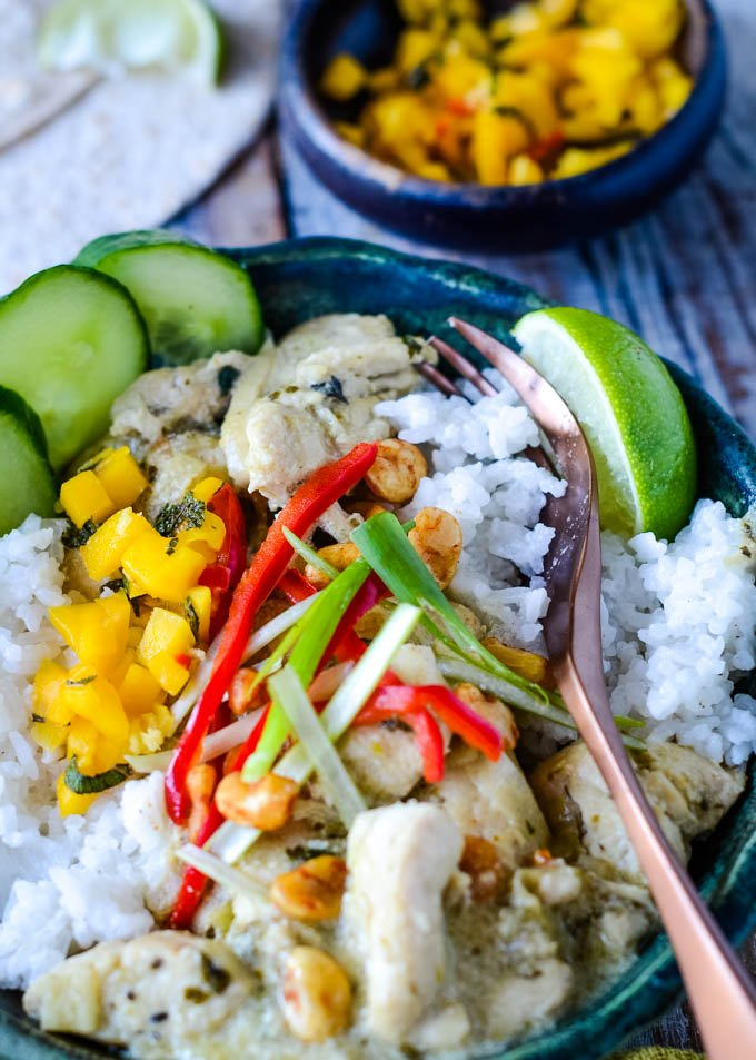 Green thai curry bowl