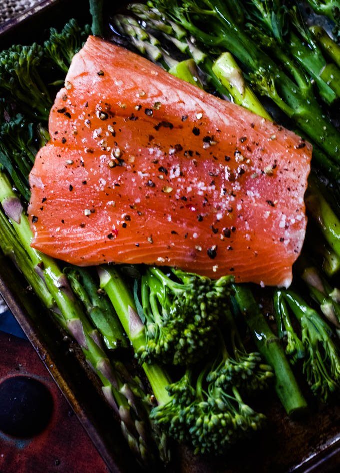 ingredients for this salmon bake