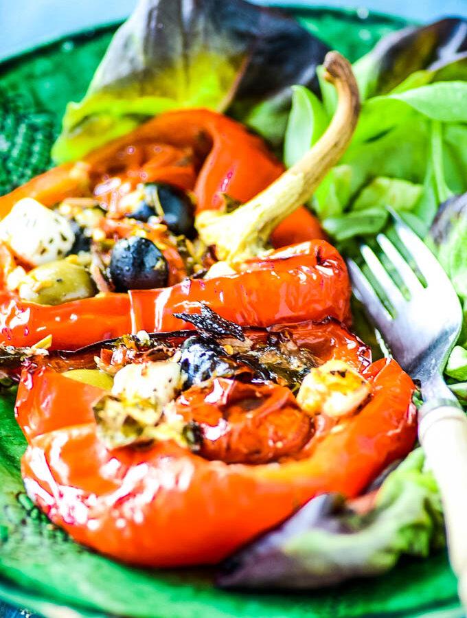 stuffed peppers puttanesca with feta by larderlove