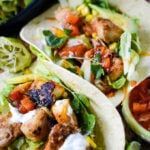 quick and easy mixed fish tacos by larderlove.com