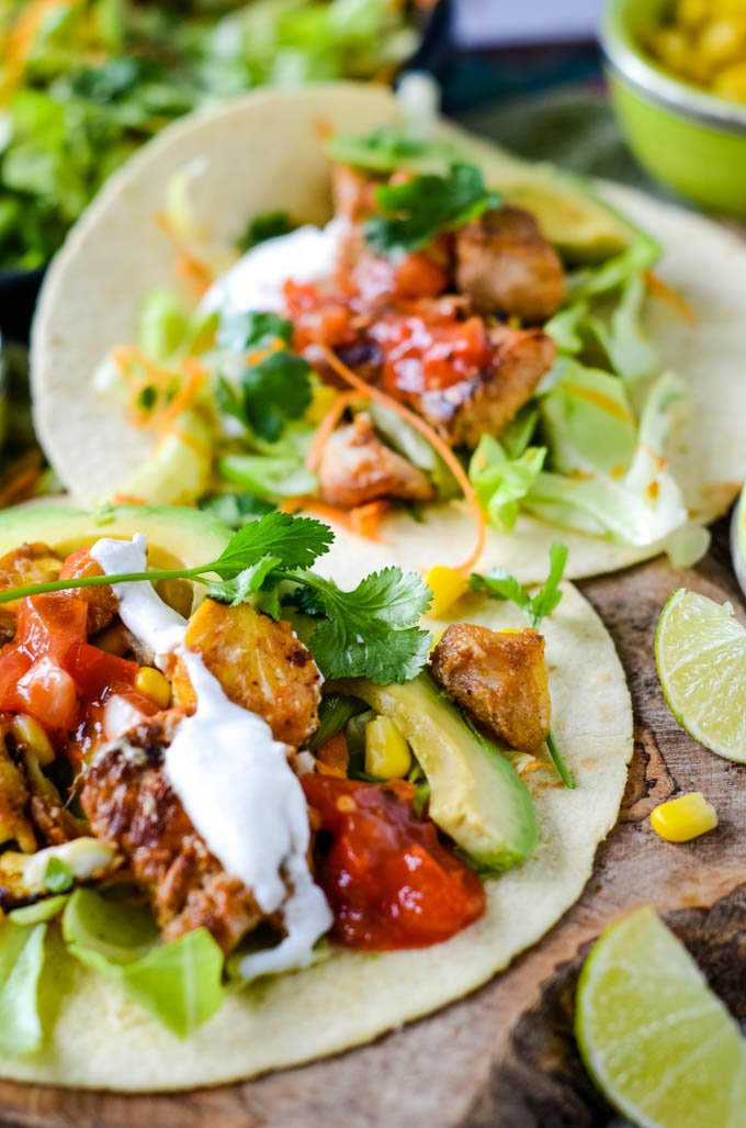 quick and easy mixed fish tacos