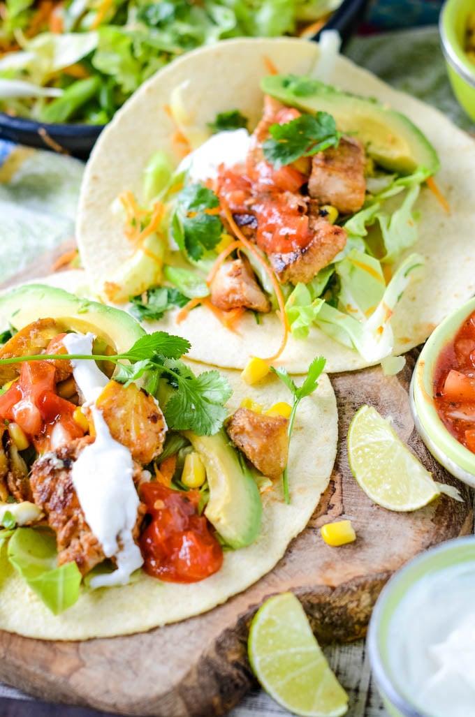 fish tacos by larderlove