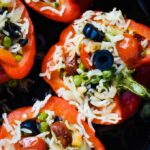 paella style stuffed peppers
