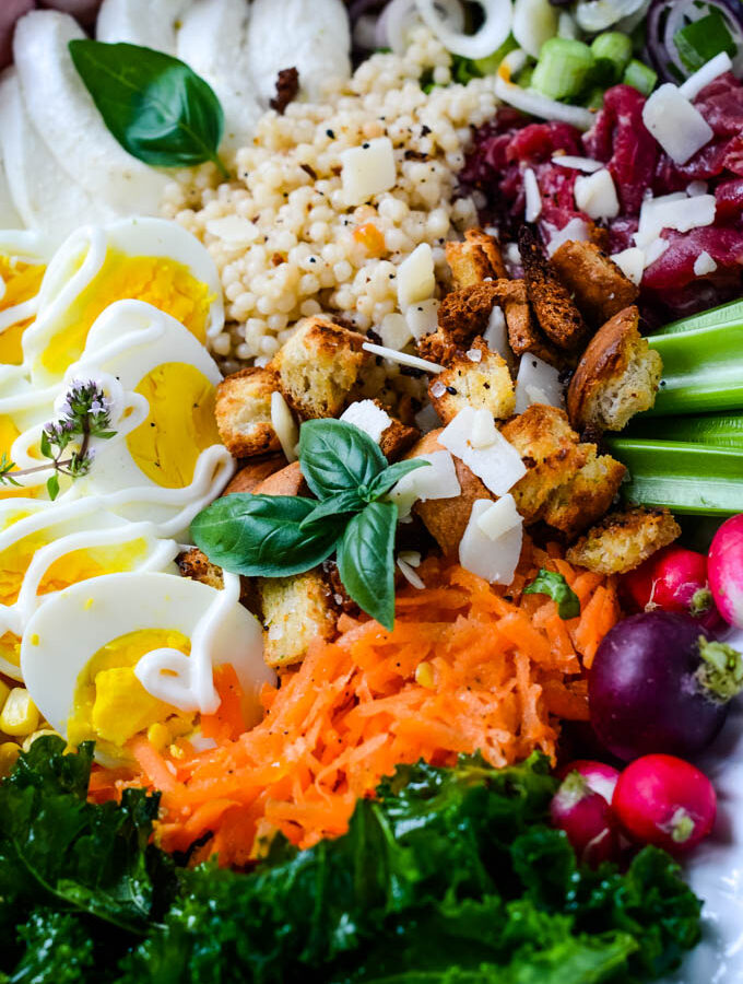 super easy antipasto salad platter