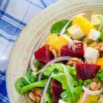beetrot orange and feta salad