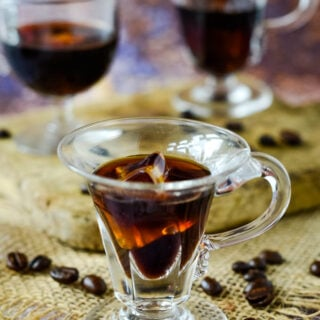 how to make homemade Kahlua coffee liqueur by larderlove.com