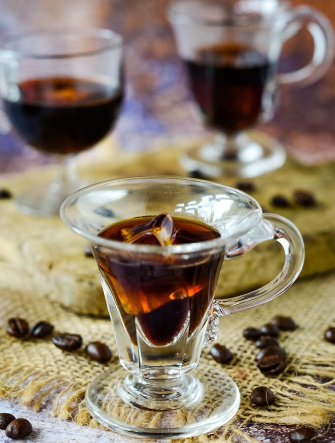 how to make homemade Kahlua coffee liqueur by larderlove.com